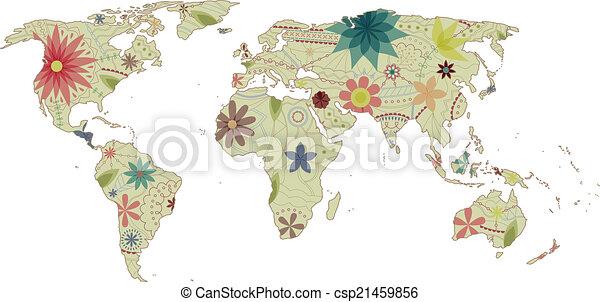 World map vintage 2 vector world map vintage eps 10 clipart vector world map vintage 2 csp21459856 gumiabroncs Images