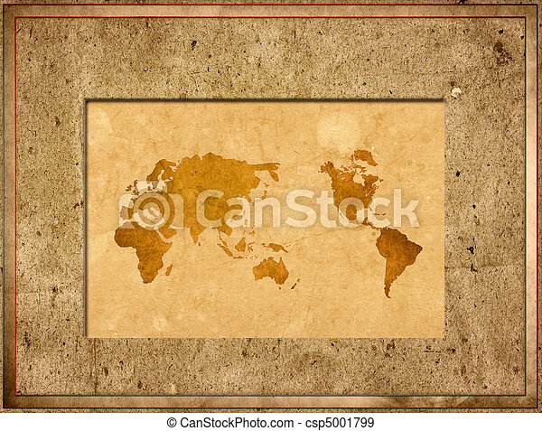World map vintage artwork perfect background with space stock world map vintage artwork csp5001799 gumiabroncs Gallery