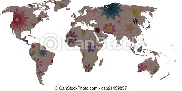 Vector world map vintage eps 10 clipart vector search illustration world map vintage csp21459857 gumiabroncs Images