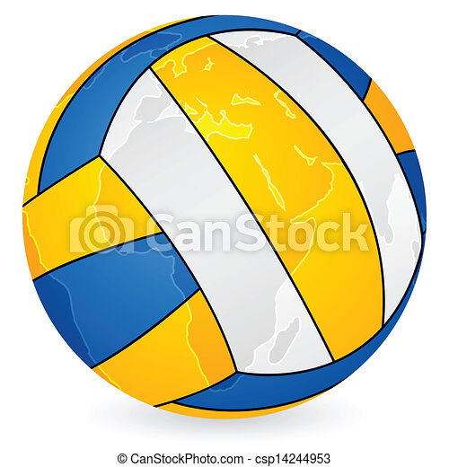 World map volleyball ball world map volleyball ball on a white world map volleyball ball csp14244953 gumiabroncs Gallery