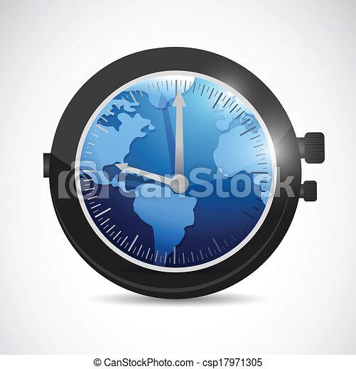 World map watch illustration design over a white background vector world map watch illustration design gumiabroncs Choice Image