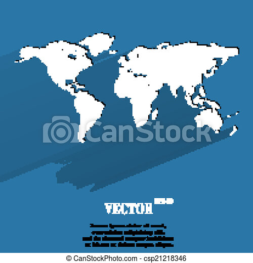Eps vector of world map web icon flat design vector illustration vector world map web icon flat design gumiabroncs Images