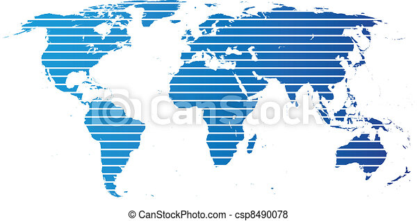 World map with continents blue map on white vector search clip world map with continents vector gumiabroncs Images