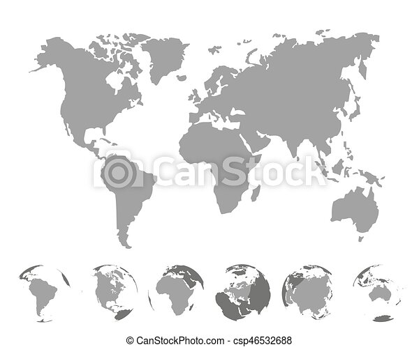World map with continents on white background vector vector world map with continents on white background vector illustration gumiabroncs Images