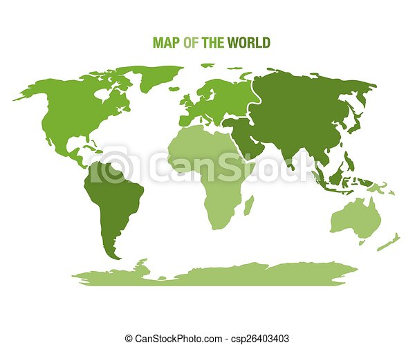 World map with continents vector illustration of a green vector world map with continents csp26403403 gumiabroncs Images