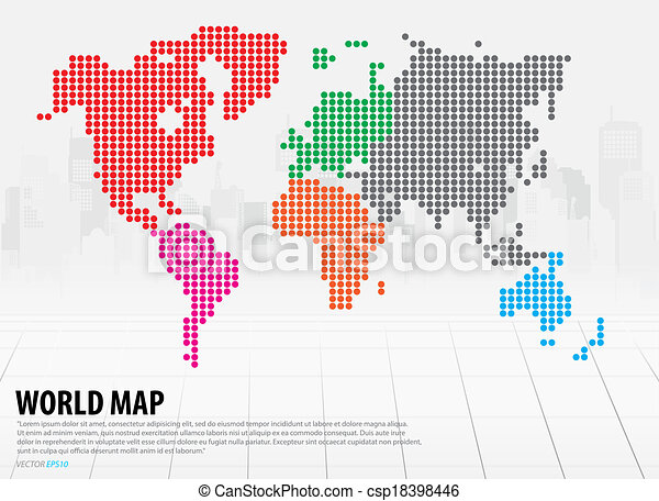 World map with continents vector illustration gumiabroncs Images