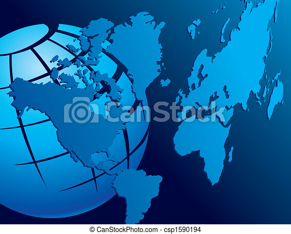 World map with globe vector background and space for text world map with globe csp1590194 gumiabroncs Image collections