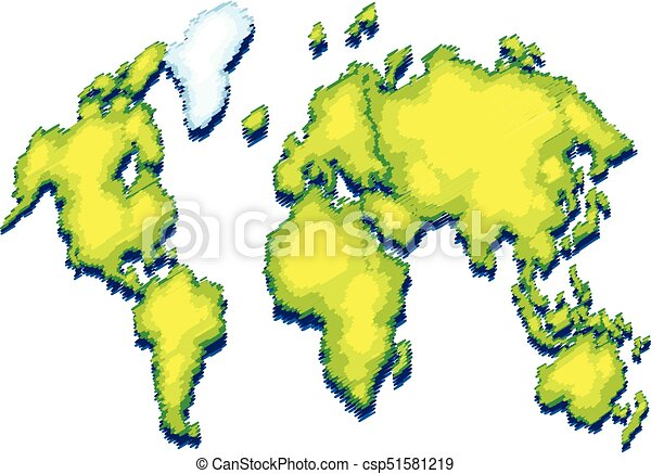 World map with green color on land illustration world map with green color on land csp51581219 gumiabroncs Images