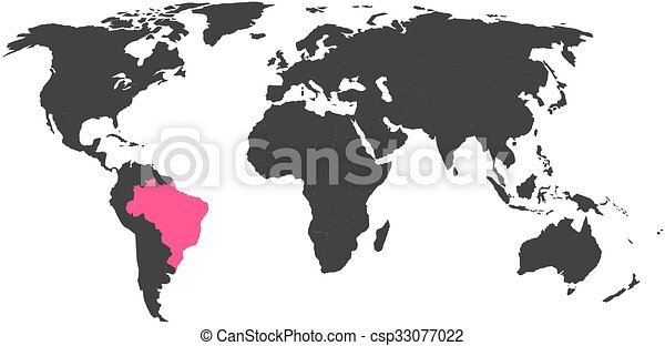 World map with highlighted canada simlified political vector map in world map with highlighted canada simlified political vector map in dark grey and pink highlight gumiabroncs Gallery
