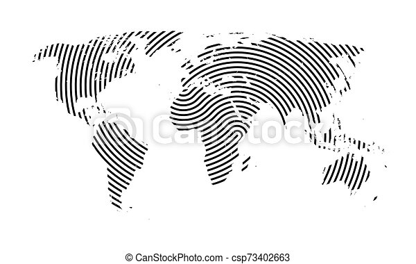 World Map with Lines. - csp73402663