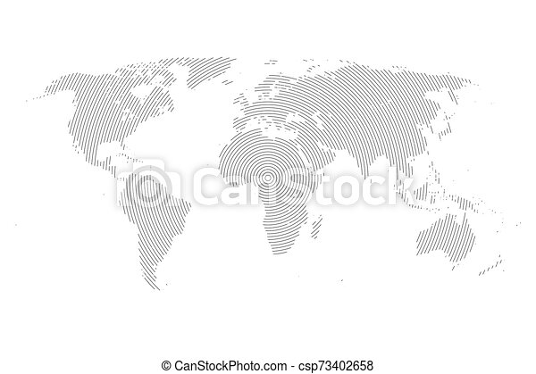 World Map with Lines. - csp73402658