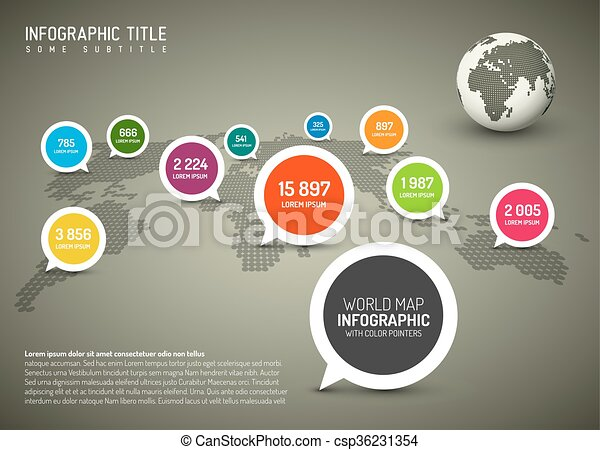 World map with simple pointer marks speech bubbles clipart world map with simple pointer marks speech bubbles csp36231354 gumiabroncs Image collections