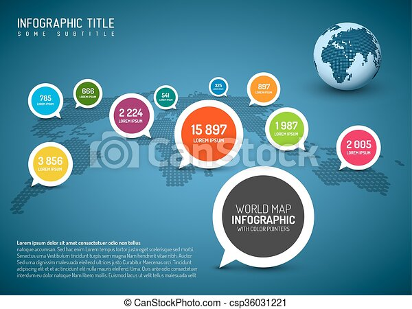 World map with simple pointer marks speech bubbles minimalist world map with simple pointer marks speech bubbles csp36031221 gumiabroncs Image collections