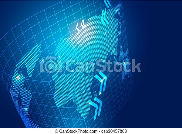 World map with technology business background vector vector world map with technology business background csp30457803 gumiabroncs Choice Image