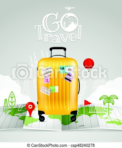 World map with the bag and logo go travel world map with the bag world map with the bag and logo go travel csp48240278 gumiabroncs Image collections