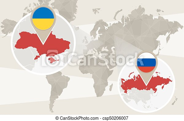 World map zoom on ukraine russia conflict vector illustration gumiabroncs Choice Image