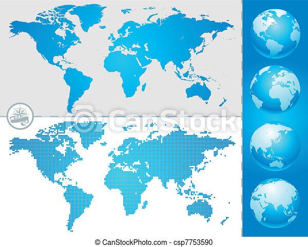 world maps and globe csp7753590