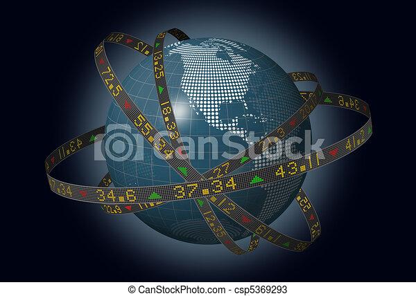 World markets with stocks - csp5369293