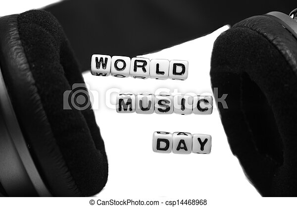 World Music Day Blocks and Letters - csp14468968