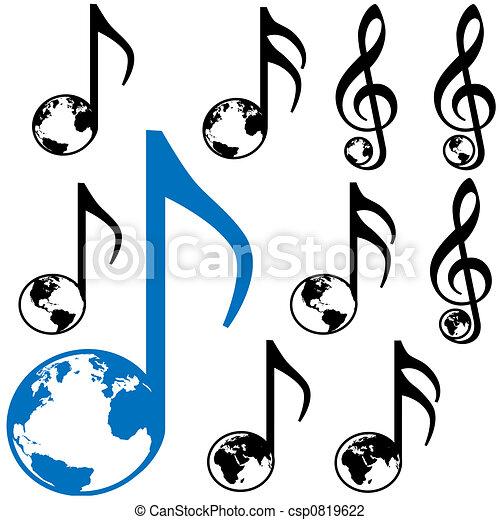 World Music Earth Notes Set Of Nine World Music Symbols 3