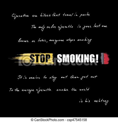 World No Tobacco Day No Smoking Inscription On Cigarette Lettering