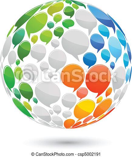 World of ideas world map made from speech bubbles vector clip art world map made from speech bubbles publicscrutiny Gallery