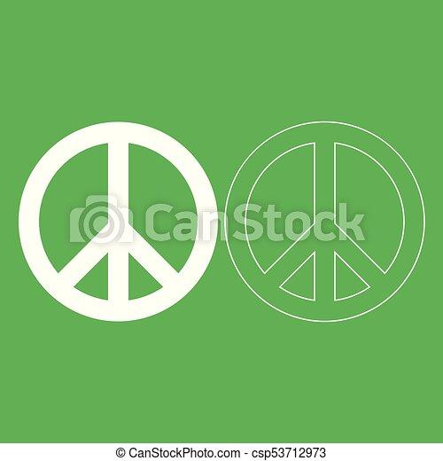 World Peace Sign Symbol Icon Illustration White Color Vectors