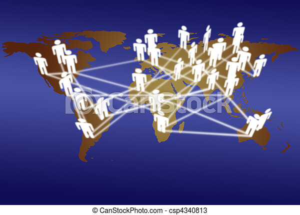 World people connect network media communication - csp4340813