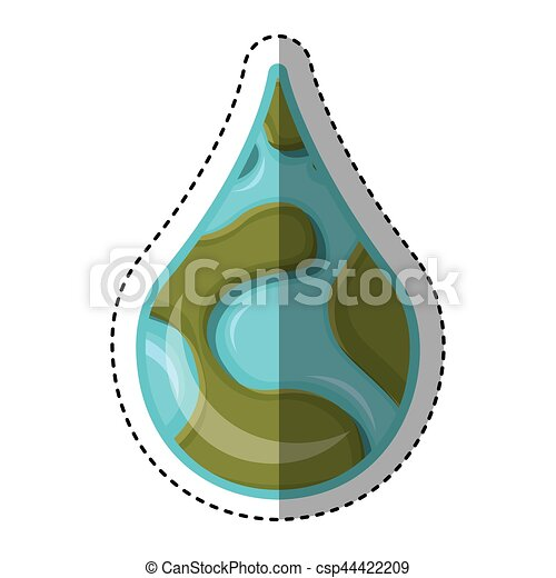 world planet earth drop water icon - csp44422209