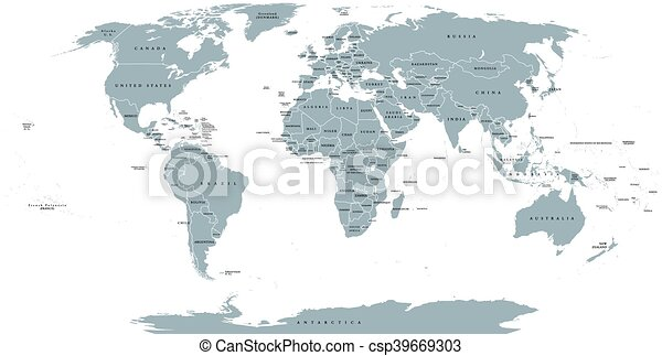 Detailed Map Of The World.World Political Map