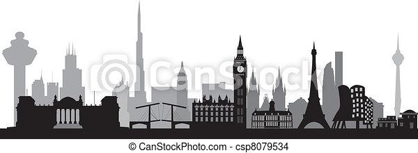 world skyline - csp8079534