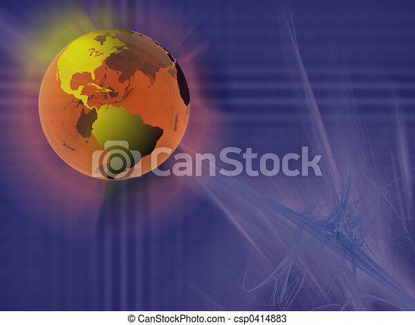 World sphere, virtual space. - csp0414883
