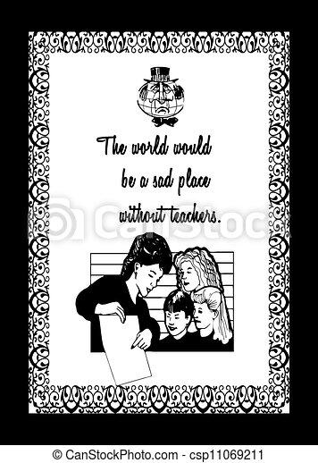 World teachers day greeting card greeting card design honoring world teachers day greeting card csp11069211 m4hsunfo