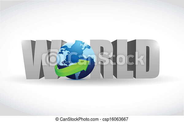 world text illustration design - csp16063667