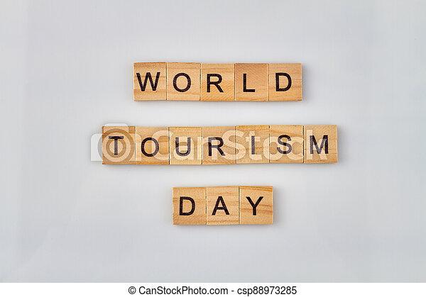 World tourism day concept. - csp88973285