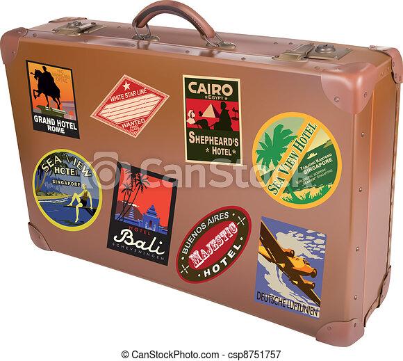 World traveler suitcase - csp8751757