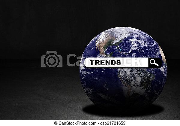 World Trends Concept Background - csp61721653
