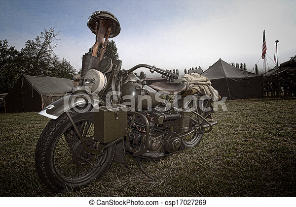 world war two military motorcycle - csp17027269
