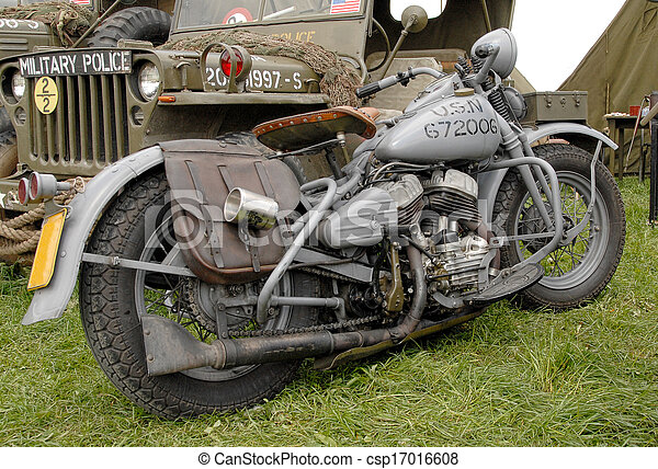 world war two military motorcycle - csp17016608