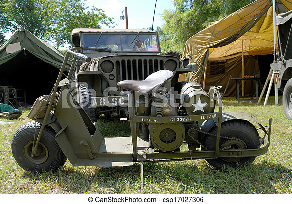 world war two military motorcycle - csp17027306