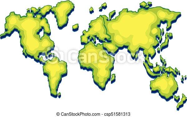 Worldmap with green land on white background illustration vector worldmap with green land on white background csp51581313 gumiabroncs Choice Image