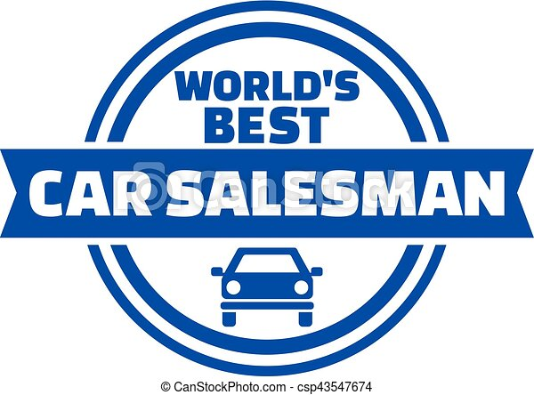 World S Best Car Salesman Button