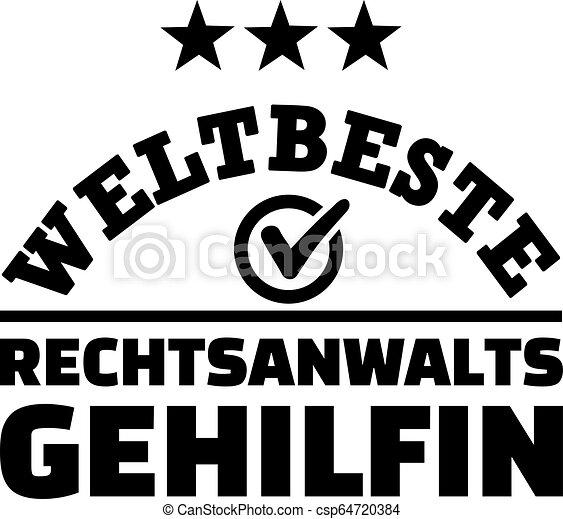 Worlds best female paralegal german - csp64720384