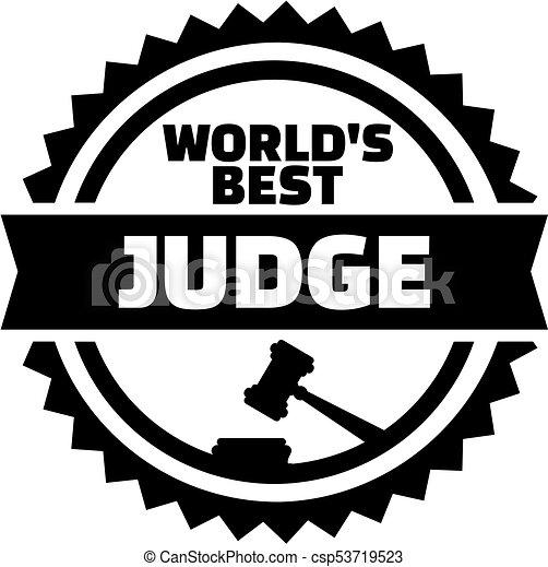 World's best judge stamp - csp53719523