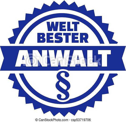 World's best lawyer german - csp53719706