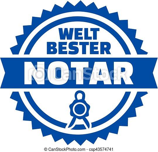 World's best notary german button - csp43574741
