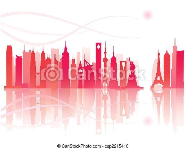 worldwide landmarks view - csp2215410