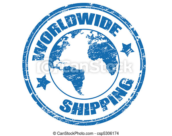 Worldwide Shipping stamp - csp5306174