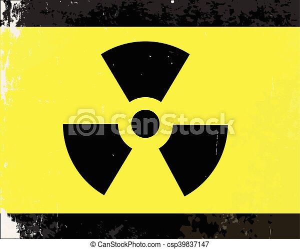 Worn Radioactive Warning Symbol A Worn Caution Radiation Symbol In