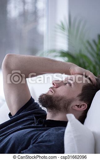 Worried man cannot sleep - csp31662096